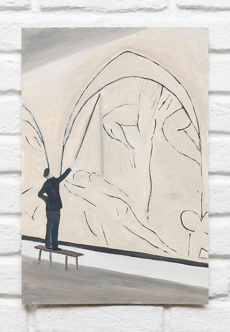 Renata De Bonis,Matisse, oil and wax on