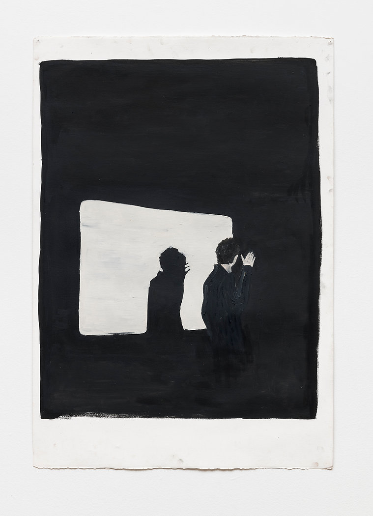 Renata De Bonis, Paik, oil and wax on pa