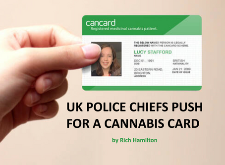 UK POLICE CHIEFS PUSH FOR A CANNABIS CARD by Rich Hamilton
