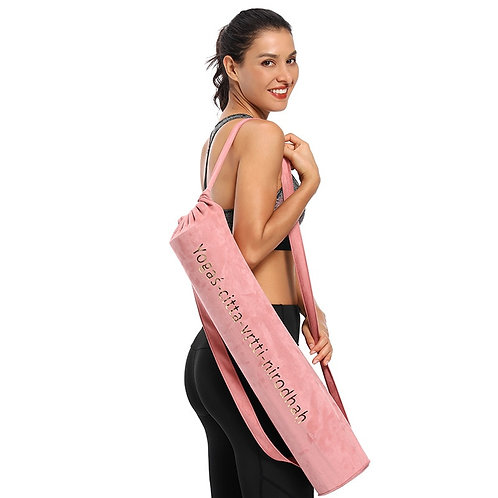Yoga Bag - Shoulder Carry Bag for Yoga Mat Suede 75cm