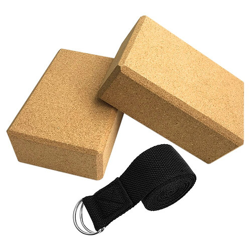 Cork Yoga Blocks Set For Yoga Stretching
