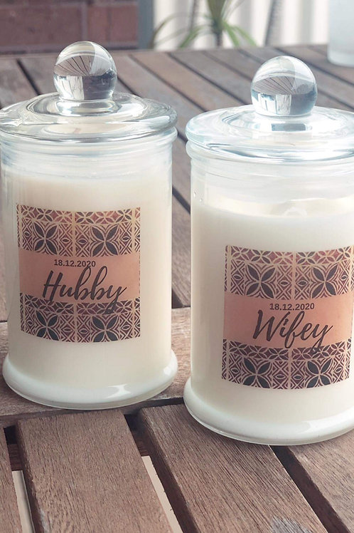 Hubby & Wifey Candle (Pair)