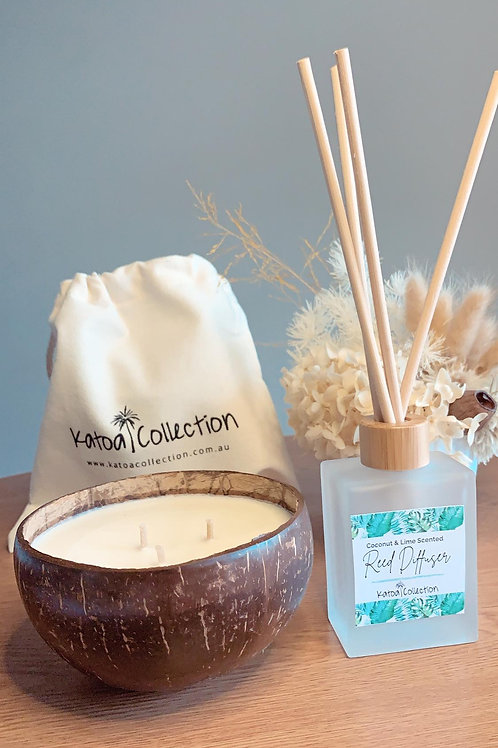 Coconut candle and Diffuser