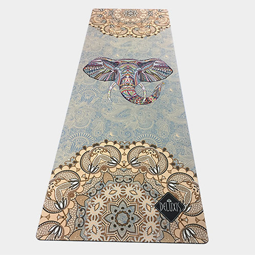 Suede Yoga Mat Non-Slip Comfortable Printed Flower Goddess