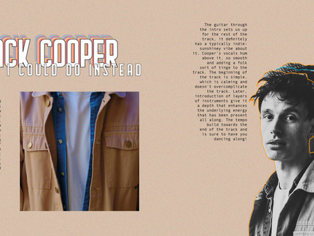 JACK COOPER - THINGS I COULD DO INSTEAD - SINGLE REVIEW