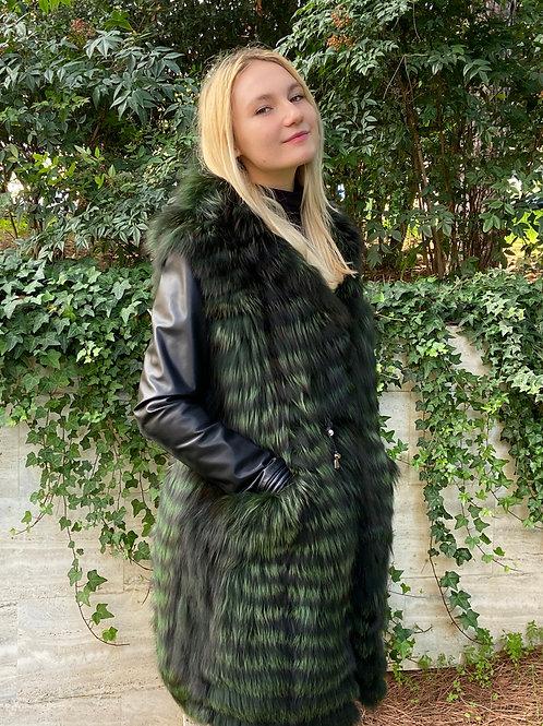 Gilet Volpe Argentata Verde bosco