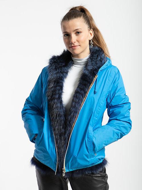Giubbino K-Way Furbe double face Raccoon Blu Cobalto