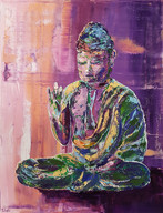 Bouddha Pink Relief