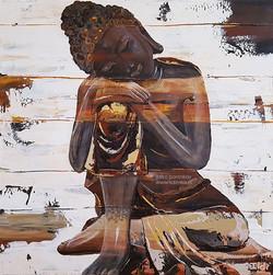 Bouddha Wooden_60x60_ildiCrea2