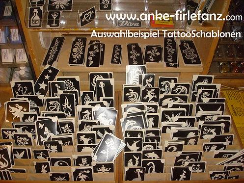 Tattoo-Schablonen für Glitter & Airbrush