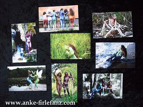 Set von 8 Kunst-Karten