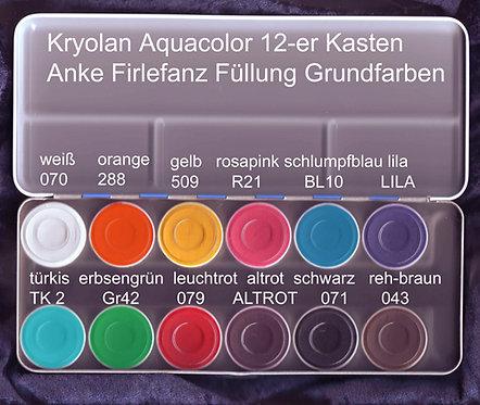 Kryolan Aquacolor 12-er Palette