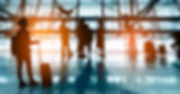 Silhouettes passenger airport. Airline t