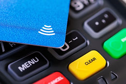 contactless payment - nfc credit card on