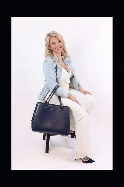 Kate Spade navy blue purse
