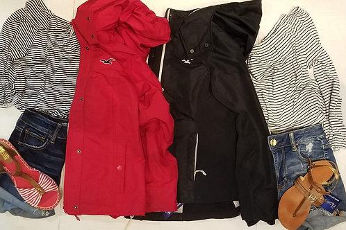 Hollister red spring jacket size med