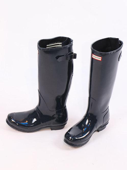 Hunter navy  blue tall rain boots size 9