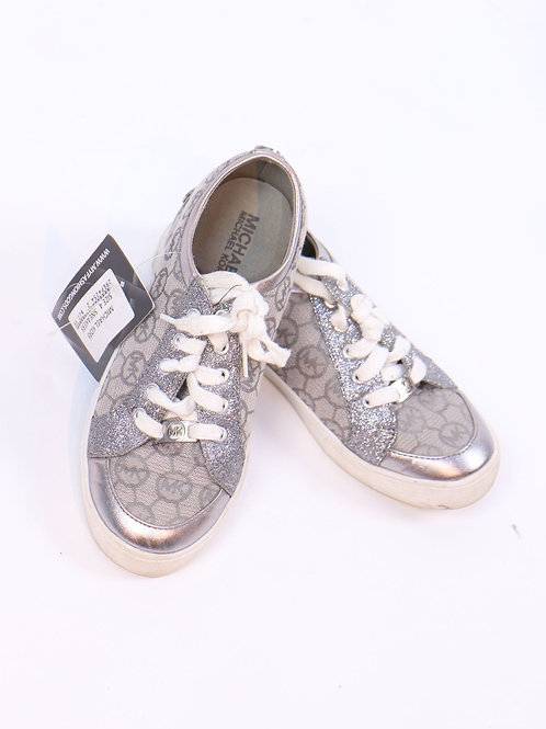 Michael Kors silver dressy style sneakers size 4