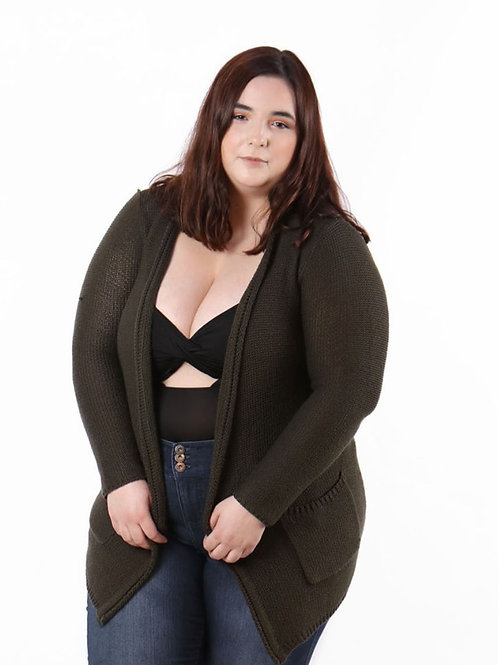 XXI green long sleeve sweater size xl