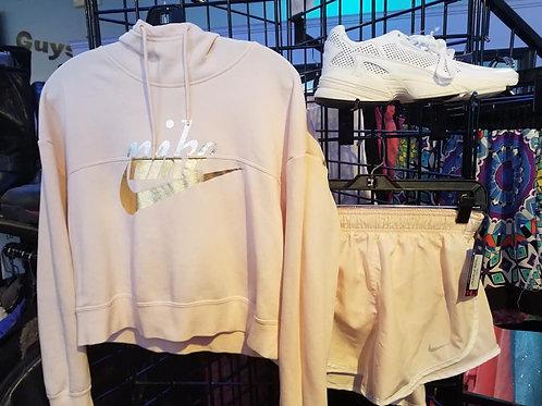 Nike pink sweatshirt with hood size small