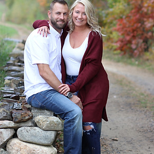 Apple picking couples photo shoot