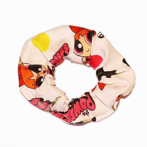 Look cute wearing this Powerpuff girl print hair scrunchies