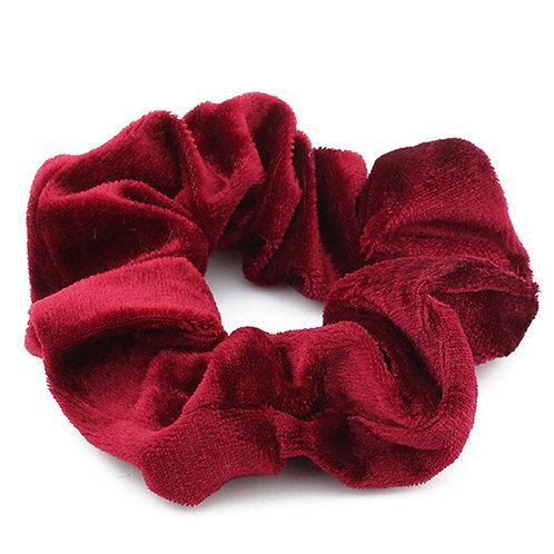 Look cute wearing this stylish red velvet print hair scrunchies