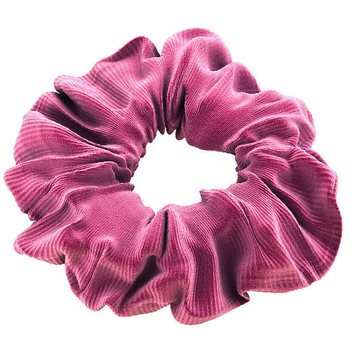 Look cute wearing this stylish pink velvet print hair scrunchies