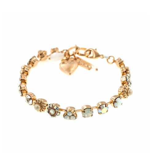 Bracelet plated with 24K Rose Gold Swarovski Crystals & Semiprecious Stones