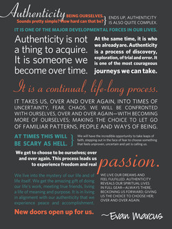 Authenticity Poster