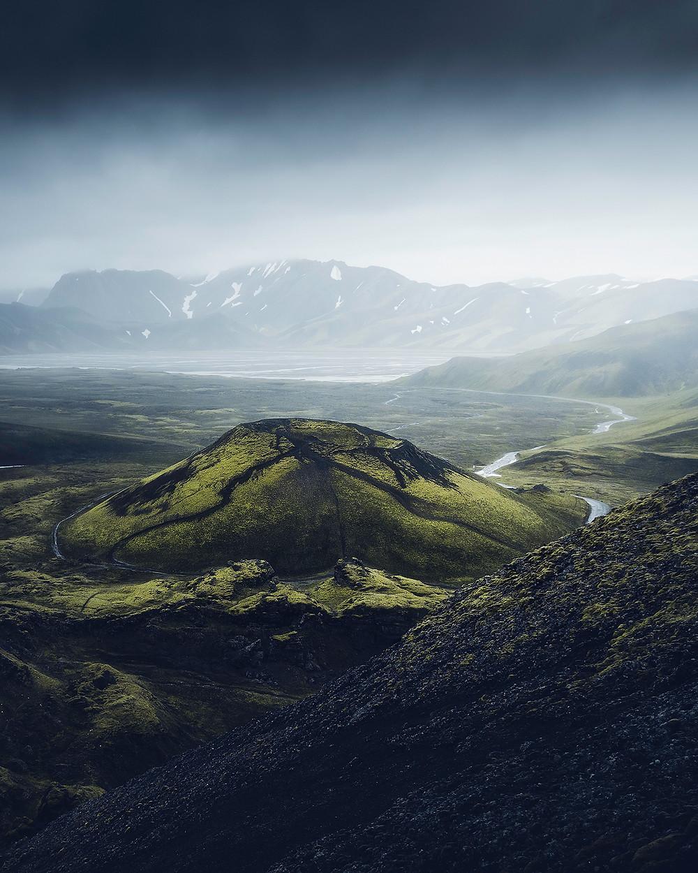 Vulkankrateret Stutur i det islandske høyland.