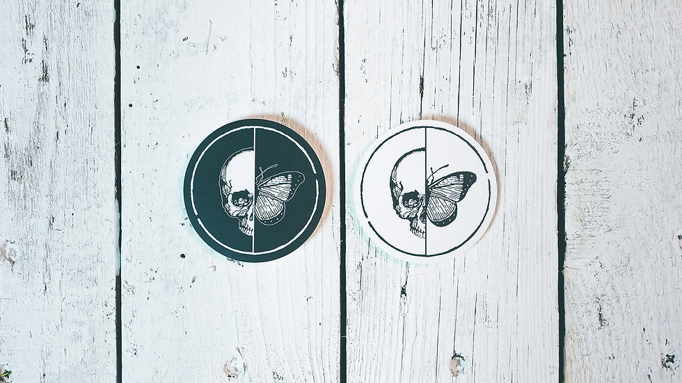 Skull 'n Butterfly Logo Sticker