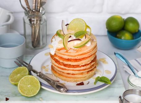 """Pancake  al lime: la ricetta facile per una colazione """"light-green"""""""