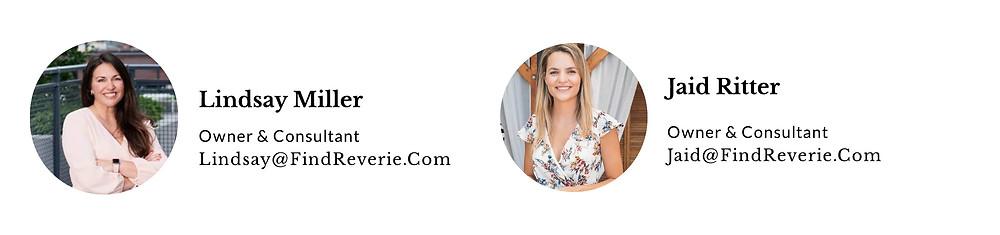 Reverie Leadership Team - Lindsay Miller, Jaid Ritter
