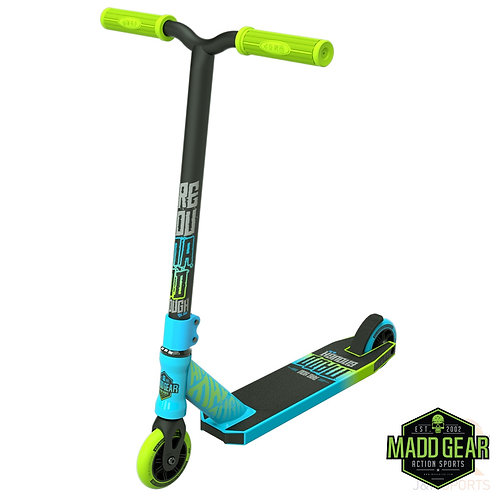 Madd Kick Mini PRO Rascal II Scooter - Blue/Lime
