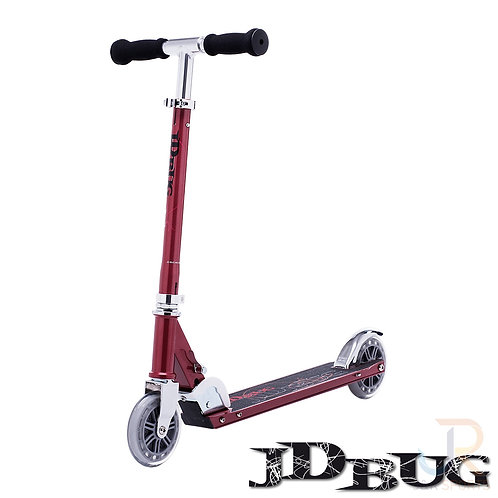 JD BUG Classic Street 120 Scooter - RedGlow