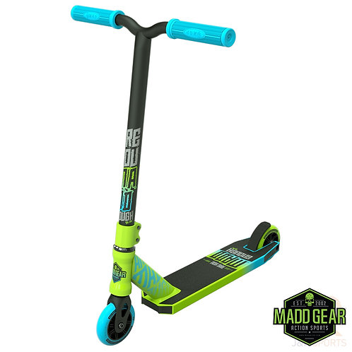 Madd Kick Mini PRO Rascal II Scooter - Lime/Blue