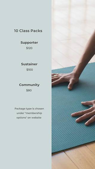 New Pricing Structure for FUL FLOW YOGA