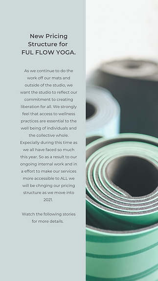 New Pricing Structure for FUL FLOW YOGA.