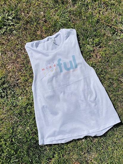 Vivid Logo Sleeveless -White