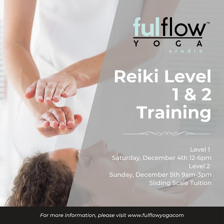 Reiki Level 1 & Level 2 Training