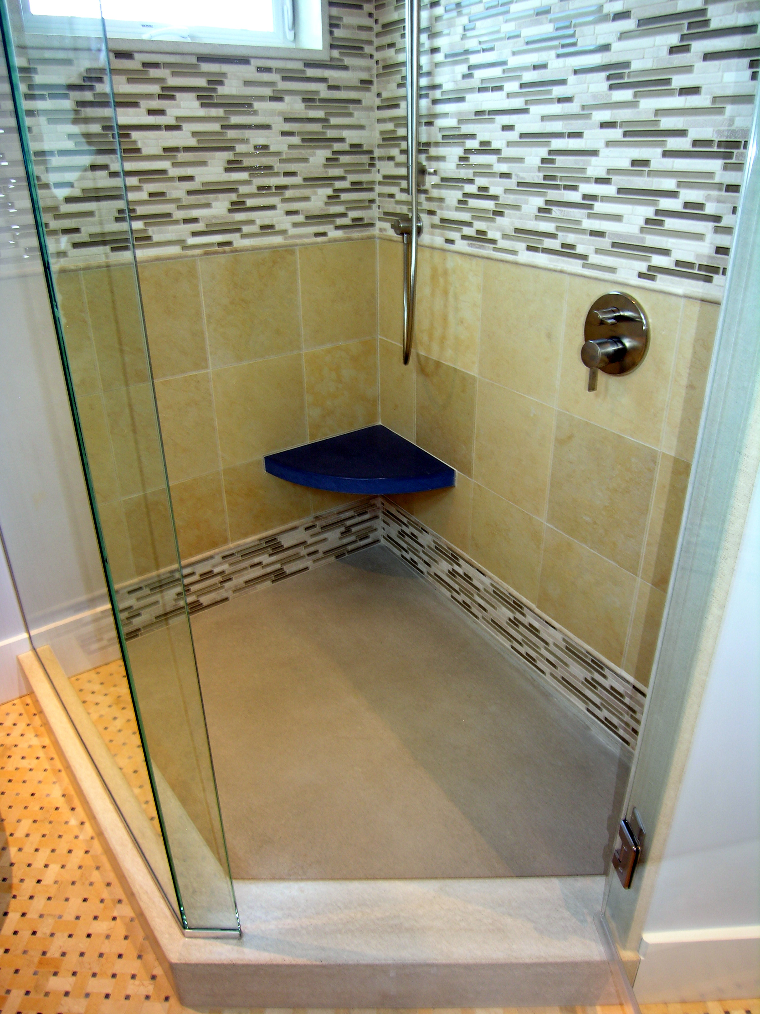 Glass, Stone  & Concrete Shower