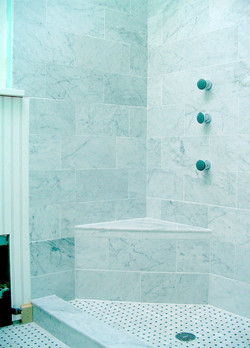 Italian Carrera Marble Shower