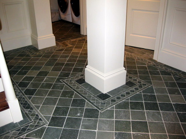 Slate Floor with Border