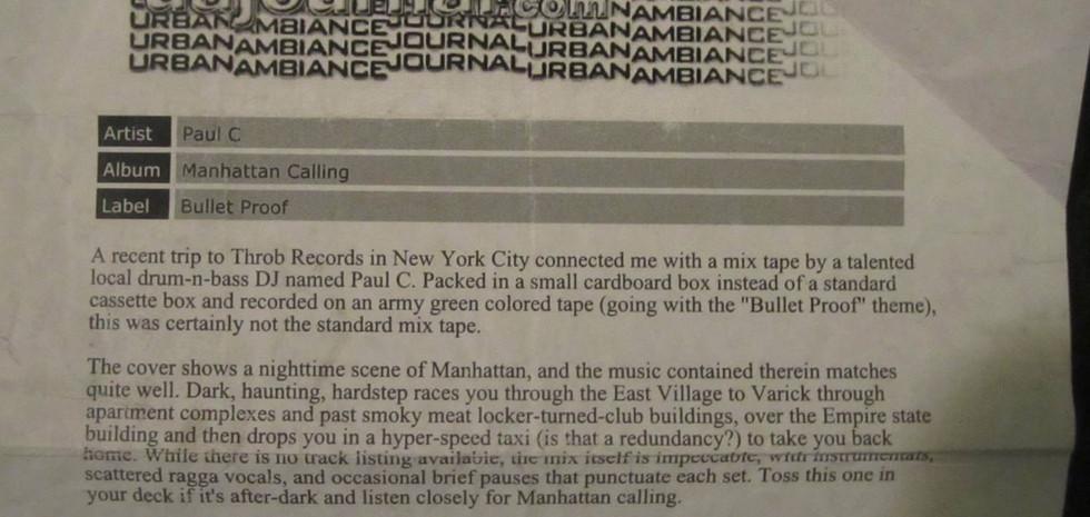 Urban Ambiance Journal