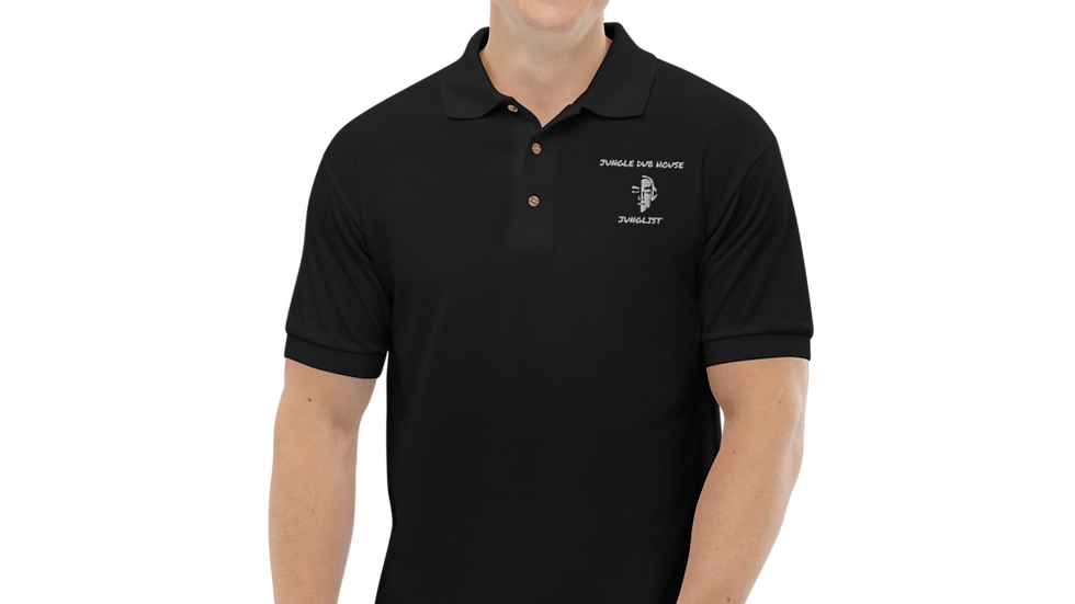 JUNGLE DUB HOUSE JUNGLIST Embroidered Polo Shirt