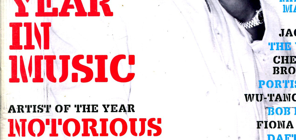 Spin Magazine: Year in Music edition