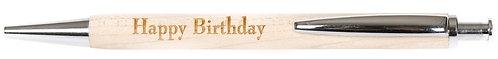 Kugelschreiber, Happy Birthday, Geburtstag, viel Glück, Geschenke, Holzprodukt, Büromaterial