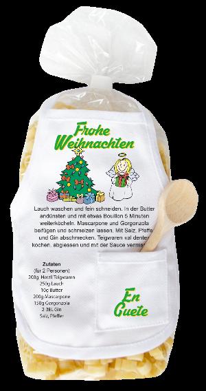 Frohe Weihnachten Pasta, Weihnachtsnudeln, Teigwaren für Weihnachten, Weihnachtsgeschenk, Tannenbaum, Weihnachtsbaum