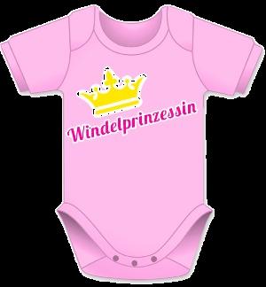Babybody, Prinzessin Body, Babygeschenk, Mädchen Baby Body, Krone Geschenk, rosa Body